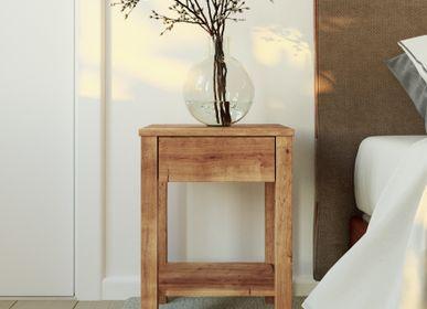 Tables de nuit - Table de chevet TOMMY 1 tiroir en bois massif - WOODEK