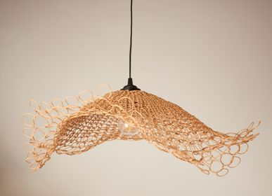 Design objects -  AIRES & AIRECITO pendant lamps. Handmade in France - ATELIER SOL DE MAYO . MONA PIGLIACAMPO