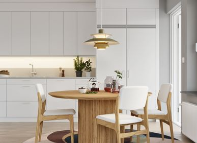 Tables Salle à Manger - Table à manger OSLO, bois de chêne massif - WOODEK