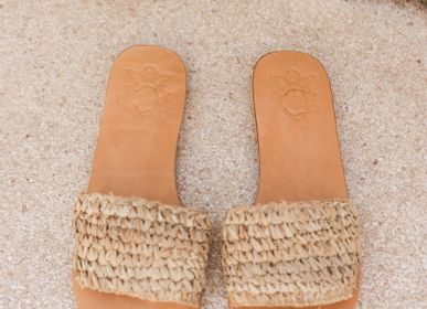 Chaussures - SANDALES MULES RAPHIA - MON ANGE LOUISE