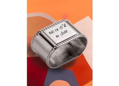 Customizable objects - Silver-plated customizable napkin ring - MONNETTE PARIS