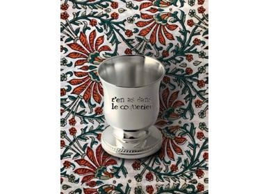 Customizable objects - Silver-plated customizable egg cup - MONNETTE PARIS