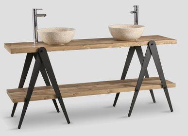 Towel racks - bathroom furniture  - DIALMA BROWN