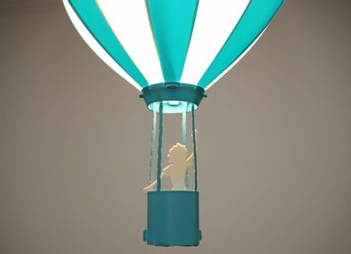 Hanging lights - AIR BALLOON Ceiling light TURQUOISE - R&M COUDERT