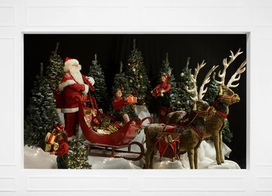 Christmas garlands and baubles - Christmas animated figures : Santa Claus, elves, reindeer... - ATELIER MICHEL TAILLIS
