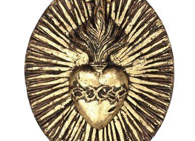 Autres décorations murales - Cœur couronne d'épines or - TIENDA ESQUIPULAS