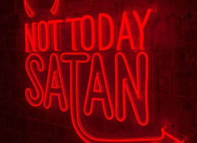 LED modules - 'NOT TODAY SATAN' RED NEON LED WALL MOUNTABLE SIGN - LOCOMOCEAN