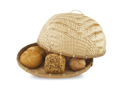 Kitchenettes - Bamboo food cover Ø40x16 cm MS20094 - ANDREA HOUSE