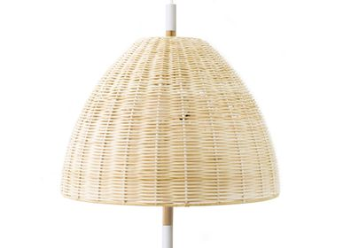 Hanging lights - AMA hanging lamp in natural wicker  - LUXCAMBRA