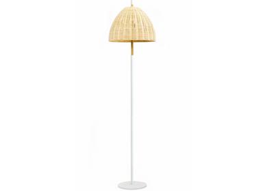 Floor lamps - AMA floor lamp in natural wicker - LUXCAMBRA
