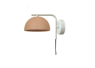 Wall lamps - ABSIS wall lamp in natural terracotta - LUXCAMBRA