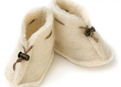 Kids slippers and shoes - BABY BOOTIES WOOL - SHEEP BY THE SEA