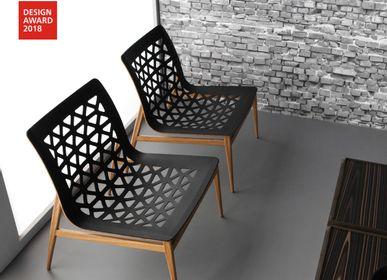 Chaises longues - chaise longue EGO - métal + cuir - DOIMO BRASIL