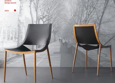 Chaises - Chaise SMILE - métal+cuir - DOIMO BRASIL