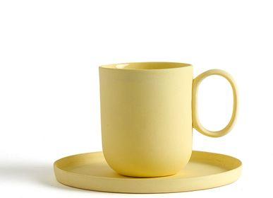 Mugs - Handmade Porcelain Single Color Espresso Mug - FIOVE ARTISANAL