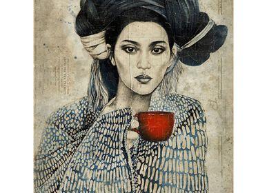 Autres décorations murales - Panneau papier froissé - collaboration Stéphanie Ledoux - ALFONZ