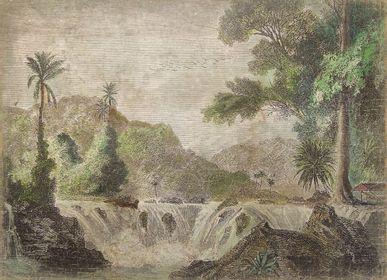 Autres décorations murales - Panneau de papier froissé - collection aquarelles avec A.D - ALFONZ