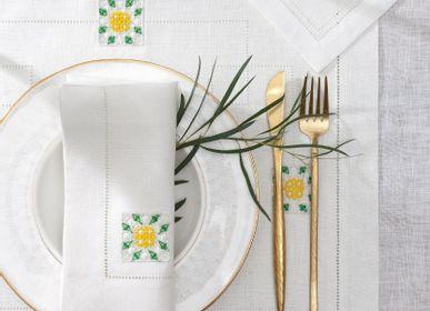 Table linen - Set of napkins  46*46 1 pcs. & 40*40 cm.  1 pcs. Capsule collecction. - KRESTETSKAYA STROCHKA