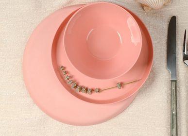 Everyday plates - Handmade Porcelain Single Tone Round Plate Set  - FIOVE ARTISANAL