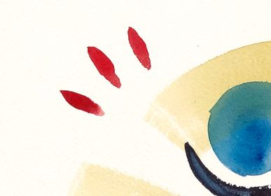 Paintings - Plaid - original watercolor on paper - IMOGEN HOPE