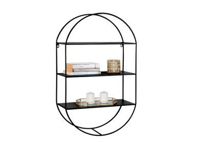 Shelves - BLACK METAL SHELF 50X20X80 MU71070 - ANDREA HOUSE
