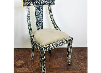 Objets de décoration - Chaise en bois laqué et os de chameau. - JD PRODUCTION - JD CO MARINE