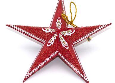Autres décorations de Noël - étoile de noël en papier pliable - BAGHI FAIR LIFESTYLE