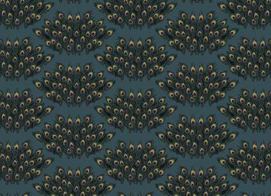 Wallpaper - Bouquet De Plumes Paon - SIMONE ET MARCEL