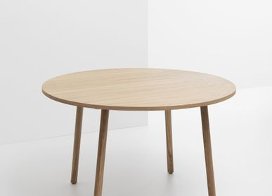 Other tables -  PADDLE-Table-Round-Natural Oak-120cm  - CRUSO