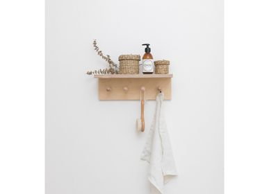 Decorative objects - SUREAU wall shelf with hooks - MAKERS.STORE BY DESIGNERBOX / ORIGINAL EUROPEAN CRAFT PRODUCTS