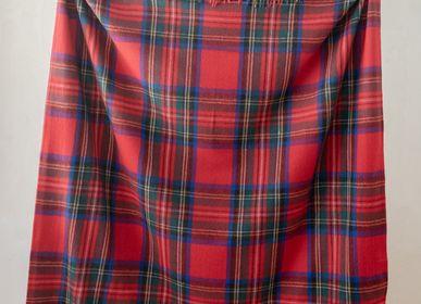 Throw blankets - Recycled Wool Blanket in Stewart Royal Tartan - THE TARTAN BLANKET CO.