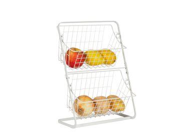 Food storage - WHITE METAL MINI STORAGE SHELF 28X15X38,5 CC71124 - ANDREA HOUSE