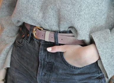 Leather goods - Glitter leather belt - LA CARTABLIÈRE