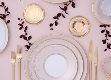Assiettes de réception - Grace assiette en porcelaine - PORCEL
