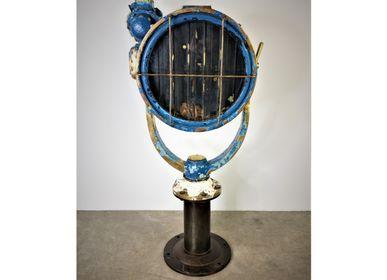 Objets de décoration - Phare scott en laiton laqué bleu - JD PRODUCTION - JD CO MARINE