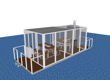Equipements espace extérieur - Bateau d'été/sauna ou mini-péniche - A LA CARTE DESIGN