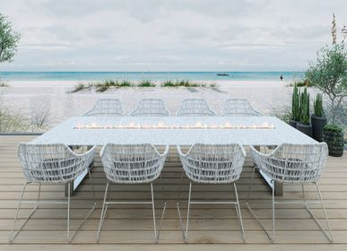 """Dining Tables - Design wood/granite/glass table """"a la carte"""" In & Outdoor with flame 2 - 8 people - A LA CARTE DESIGN"""