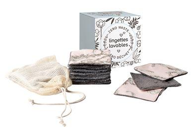 Cadeaux - 10 lingettes lavables et filet de lavage - ATELIER CATHERINE MASSON