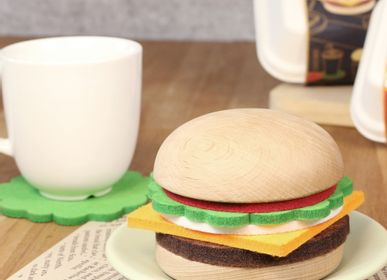 Tea and coffee accessories - Hamburger coaster - CARPENTER HANDMADE