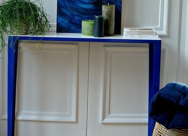 Console table - LABYRINTH FURNITURE - TERRE ET METAL