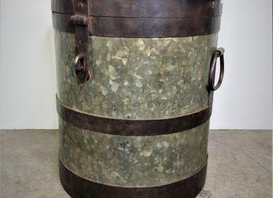Objets de décoration -  Bidon en zinc et fer à couvercle - JD PRODUCTION - JD CO MARINE