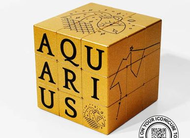 Design objects - ARTCOLLECTION ZODIAC GOLD EFFECT - ICONICUBE BY AROUNDTHECUBE