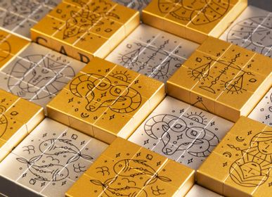 Objets design - ICONICUBE ARTCOLLECTION ZODIAC GOLD EFFECT - ICONICUBE BY AROUNDTHECUBE