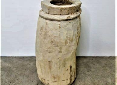 Objets de décoration - Mortier en bois blanchi - JD PRODUCTION - JD CO MARINE
