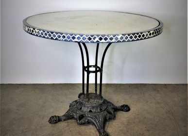 Other tables - Round table, iron leg, marble top - JD PRODUCTION - JD CO MARINE