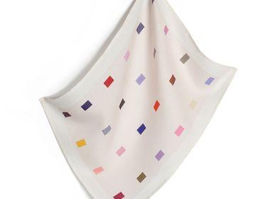 Dish towels - block pink tea towel - HELLEN VAN BERKEL HEARTMADE PRINTS