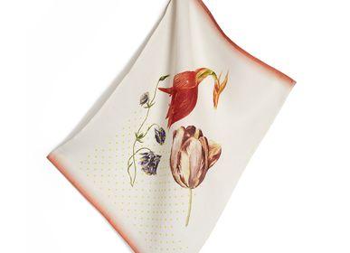 Linge d'office - torchon tulipe lin - HELLEN VAN BERKEL HEARTMADE PRINTS