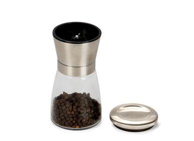 Spice grinders - GLASS MANUAL GRINDER Ø6,5X13,5 CM MS71035 - ANDREA HOUSE