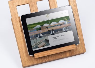 """Other smart objects - Wooden tray insert """"Tablet holder"""" for """"a la carte"""" design barbecue table - A LA CARTE DESIGN"""