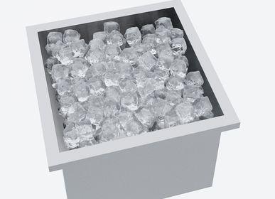 Accessoires pour le vin - Récipient en acier inoxydable pour «seau à glace, champagne, vin et boissons», profondeur: 270 mm pour table barbecue design «à la carte» - A LA CARTE DESIGN